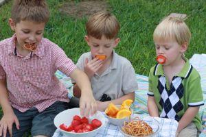 three boy snack